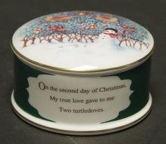 2 Turtledoves -  in the Twelve Days Of Christmas pattern by Wedgwood China