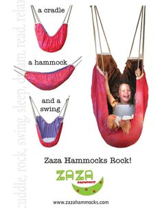 I would have loved to have one of these in my room when I was a kid. Or outside. Reversible ZAZA hammock  Africa and bottle green   by ZazaHammocks on Etsy!, $85.00