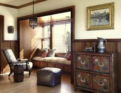 Love the antique side board and sunny corner