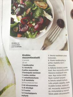 Kirsikka-mozzarellasalaatti