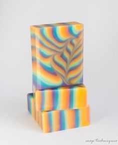 """""""rainbow heart"""" - cold-process soap by Soap Techniques"""