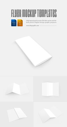 Flyer Mockup Templates (Psd / Vector)