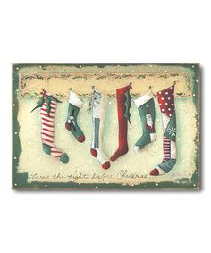 Take a look at this Stockings Canvas by COURTSIDE MARKET on #zulily today!