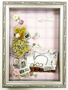 Tailor Made - a DIY pressed flower art piece in frame - LR018 by LaceRosette on Etsy