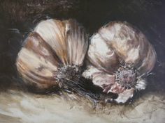 Garlic, acrylic on canvas BY LOUISE GROVE WIECHERS