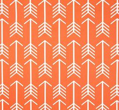 Orange Arrow  Home Decor Fabric by the Yard by CottonCircle