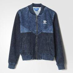 0e47c792501 adidas - Jaqueta Colorado French Terry Denim Moletom Da Adidas