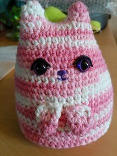 Dumpling Kitty. From a free pattern.