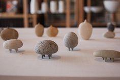 mitsuru koga's sea stone sculptures in tortoise - www.mitsuru-koga.com/