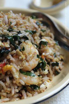 爱厨房的幸福之味: 香辣山捞叶虾仁蛋炒饭