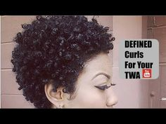 How To Define Natural Curls for Kinky Curly Hair Tutorial - YouTube