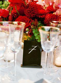 Glamorous Floral Red Wedding at a Luxury California Estate - MODwedding Mod Wedding, Wedding Table, Floral Wedding, Wedding Vintage, Elegant Wedding, Event Planning Design, Event Design, Wedding Trends, Wedding Designs