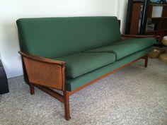 Mid Century FLER Sofa Lounge Vintage Teak Couch in Home & Garden, Furniture, Sofas, Couches | eBay