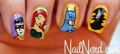 batman manicure--i just want the bat symbol