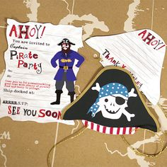 Party Ark's 'Ahoy There Pirate Invite & Thank You Set'