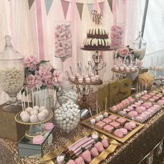 "421 Likes, 8 Comments - Sweet Tooth Candy Buffets © (@swttoothbuffets) on Instagram: ""Thank you for having us @nicoleliebgott  #BridalShower #CandyBuffet"""