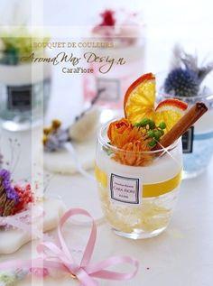 鮮やかで香り豊かなアロマワックスデザイン ♡ Gel Candles, Soy Wax Candles, Scented Wax, Scented Candles, Wax Tablet, Rose Candle, Oil Mix, Candle Containers, Color Balance