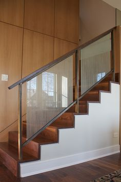Metal railings, Staircase Design Chicago, Custom Stair Design, Custom Furniture - Www.iron-wire.com