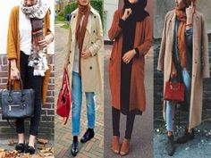 trench-coats-with-boots- Hijab fashion gallery http://www.justtrendygirls.com/hijab-fashion-gallery/
