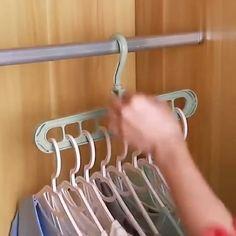 Diy Kitchen Storage, Diy Storage, Storage Spaces, Closet Organization, Kitchen Organization, Diy Furniture Videos, Pants Rack, Diy Clothes Videos, Coastal Bedrooms