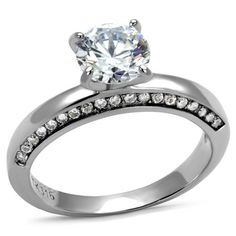 1.7CT Round Cut Solitaire Russian Lab Diamond Solitaire Engagement Ring
