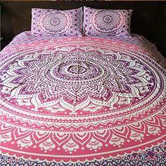 La Vie Boheme Ombre Mandala Tapestry Duvet Cover & Pillowcases