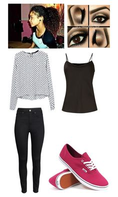 Back To School Outfit #2 by jada20432-dc on Polyvore featuring Untold, H&M and Vans