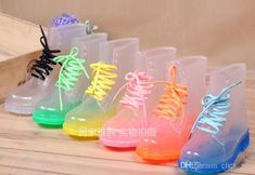 Wholesale Rain Boot - Buy PVC Transparent Womens Colorful Crystal Clear Flats Heels Water Shoes Female Rainboot Martin Rain Boots, $23.6 | DHgate