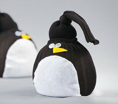 Adorable penguin sock craft!