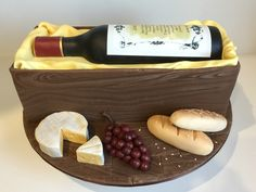 Wine bottle birthday cake Cake Decorating, Birthday Cake, Cheese, Wine, Bottle, Food, Birthday Cakes, Flask, Essen