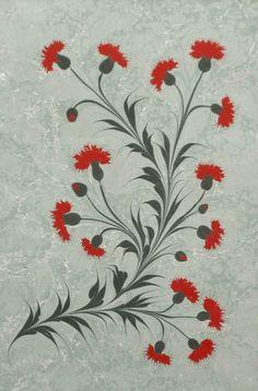 Ebru - Marbling on paper - an Islamic Turkish art, elegant and refined