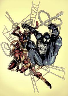 Spiderman, Symboite Spiderman & Iron Spiderman