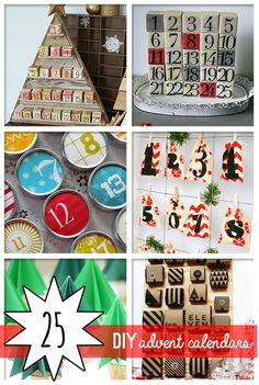 25 DIY Awesome Advent Calendars to Make — Saved By Love Creations