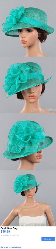 Women Formal Hats: Fancy Women Sinamay Bridal Church Hat Kentucky Derby Tea Party Dress Hat Floral BUY IT NOW ONLY: $36.99 #priceabateWomenFormalHats OR #priceabate
