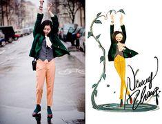 Nancy Zhang - Chanel Jacket, Cos Pants, Marccain Shirt - A rainy day.