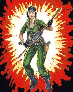 """Lady Jaye (Alison R. Hart-Burnett) - G.I Joe; born in Martha's Vineyard, Massachusetts, Lady Jaye is a gifted linguist & an accomplished actress & mime artist. has participated in or led many undercover missions for the Joe Team. She is a believer in the saying that """"less is more."""" she is skilled in cryptological linguistics, signals intelligence, & electronic interception analysis."""