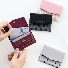Iconic Pochette pattern card case pocket wallet by ICONIC. The pochette card case is a well made and lovely simple card wallet. Pocket Wallet, Card Wallet, Card Case, Leather Wallet Pattern, Sewing Leather, Christmas Gifts For Teen Girls, Cute Wallets, Card Patterns, Purses And Handbags