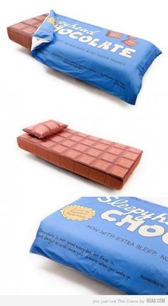 Chocolate Bed.   SOOO COOL!