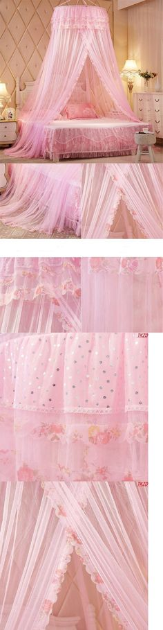 Canopies and Netting 48090: Girls Kids Mosquito Net Lace Crib Twin Full Queen Bed Canopies Beds Pink New... -> BUY IT NOW ONLY: $40 on eBay!