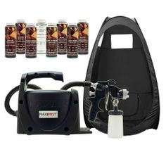 MaxiMist Pro SPECIAL EDITION Spray Airbrush Black HVLP Tanning DHA Machine Tent by MaxiMist. Save 34 Off!. $359.00. Convenient for travel. 8 DHA Solutions also included. Easy to use. Pop Up Spray Tent Included. Must have for any professional. You won't find another TrueHVLP system anywhere that has been completely designed just for the application of Airbrush Spray Tanning Solutions. Tampa Bay Tan has teamed up with Earlex, one of the largest manufactures of HVLP Spray Systems in the ...