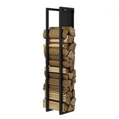Want a better storage for your firewood? You can use reclaimed or leftover lumber and old pipes in building this rustic fire wood holder. Firewood Holder, Firewood Storage, Log Store, Log Holder, Open Wall, Into The Woods, Log Burner, Home Upgrades, Home