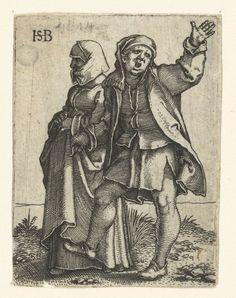 Boerenpaar, Hans Sebald Beham, 1510 - 1550