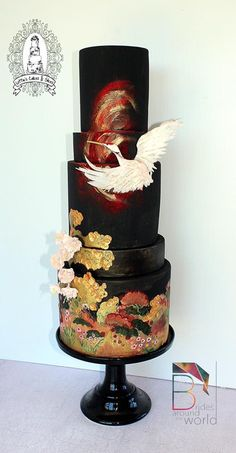 Lotties Cakes and Slices, inspired by Japanese formal bridal kimono