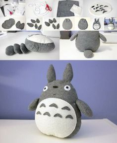 Inspiration pour le MakerSpace de Lille #doudou #totro #enfants  Totoro Plush - do it yourself stuff