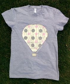 Vintage Hot Air Balloon Tee (Ladies) – Rose Gold Vintage