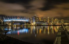 BC Place and the Vancouver Skyline, as seen from False Creek