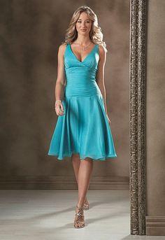 Turquoise bridesmaid dress..