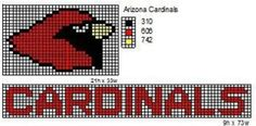 NFL Logos and Name Plates: These are the NFL logo and name plate patterns that I use to make scarfs and beenie hats. Here is a pattern for th… Bead Loom Patterns, Beading Patterns, Cross Stitch Patterns, Crochet Patterns, Crochet Ideas, Crochet Tutorials, Hat Patterns, Crochet Stitches, Crochet Projects