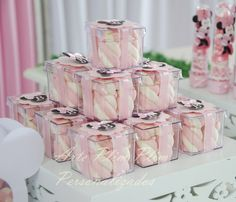 Discover thousands of images about Ballerina Birthday party ideasThese are cute favors. Minie Mouse Party, Minnie Mouse Pink, Minnie Birthday, Pink Birthday, Birthday Party Decorations, Birthday Parties, Candy Table, Mouse Parties, Wedding Favours