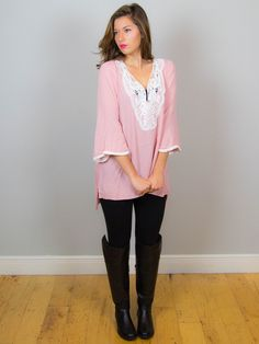 Pretty in Pink and Lace Tunic | DazyLu